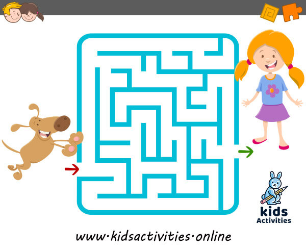 Cartoon Mazes For Kids - Free Printable