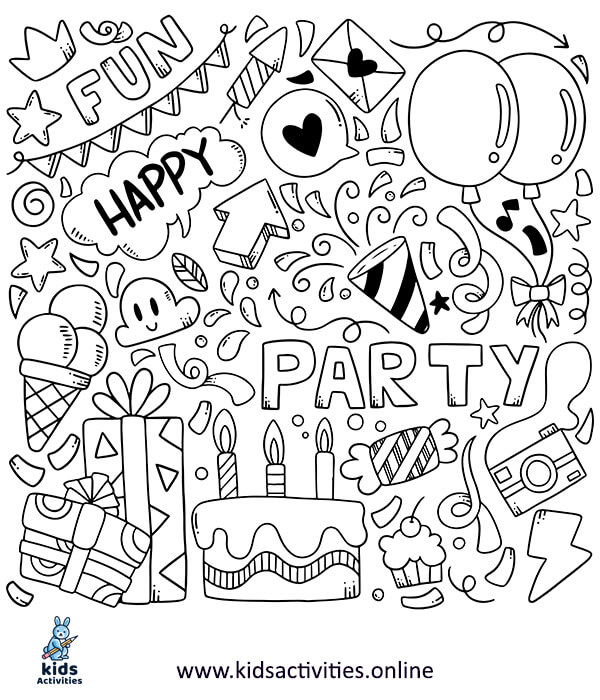 hand-drawn party doodles elements