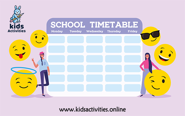 student timetable template