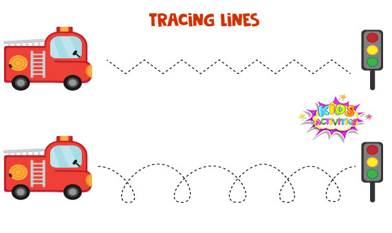Tracing Lines Worksheets For Preschool - Free Printable