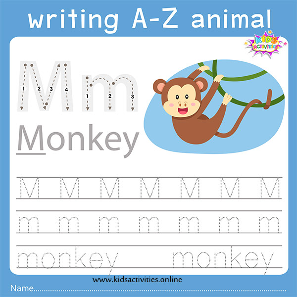 Tracing letters m