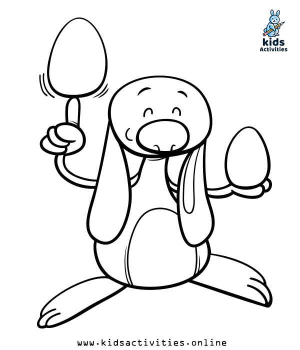 Spring easter coloring sheets
