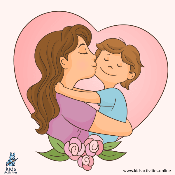 mom and baby boy cartoon images