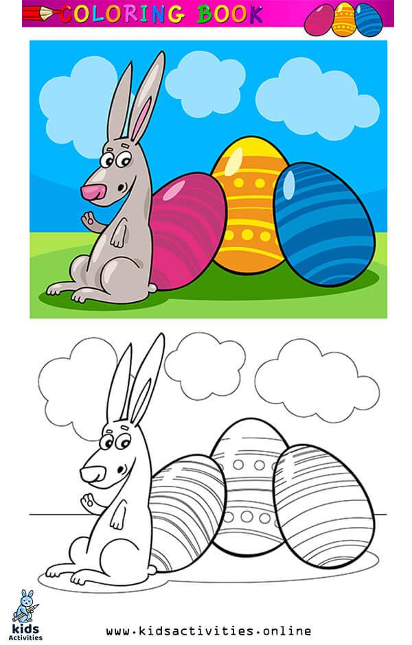 Cartoon spring coloring page
