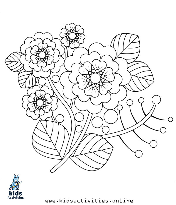 spring coloring pages for free