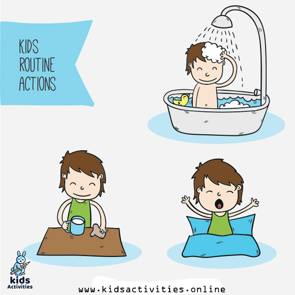 Kids doing daily routines
