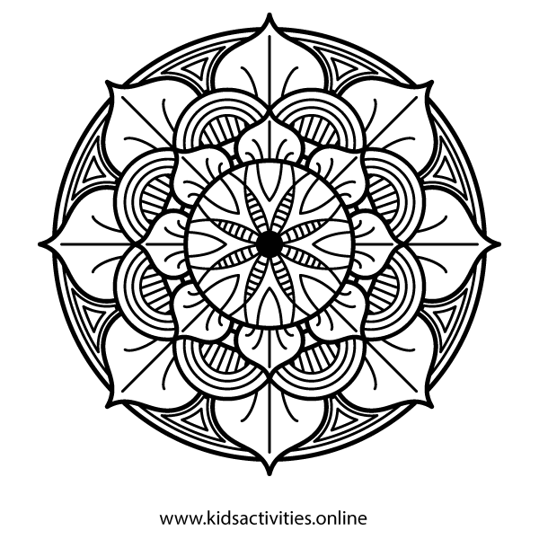 Spring Rose Coloring Sheet
