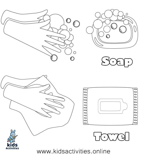wash your hands worksheet kindergarten