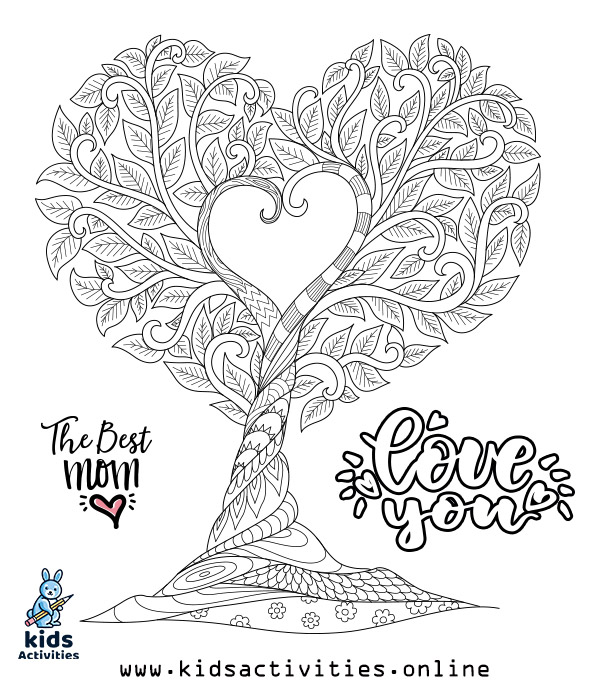 Printable Mothers Day Cards To Color PDF