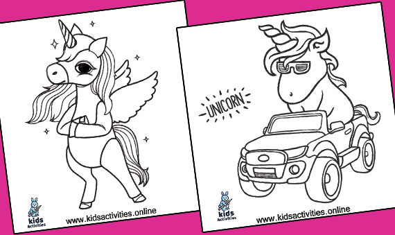 Free Coloring Pages For Unicorns .. Cute Unicorn
