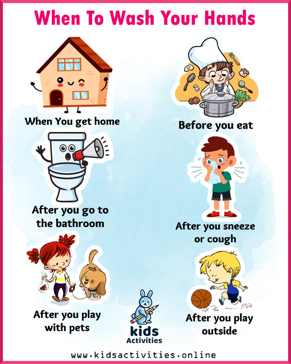 Printable Hand Washing Posters For Preschoolers