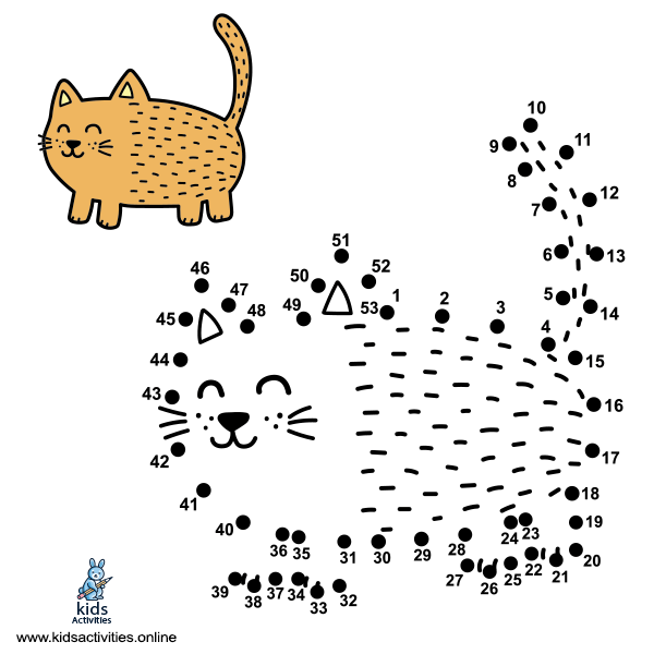 Dot to Dot cat drawing