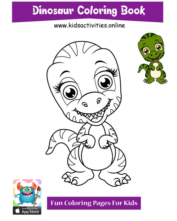 Dinosaur doodle cute