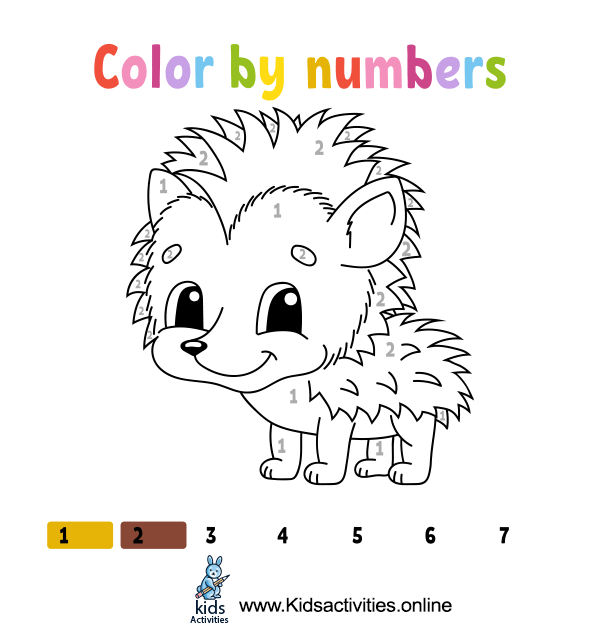 Coloring By Numbers Animals - Free Coloring Pages