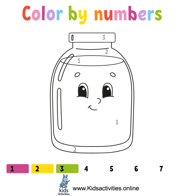 Coloring by numbers for a free - printable math game
