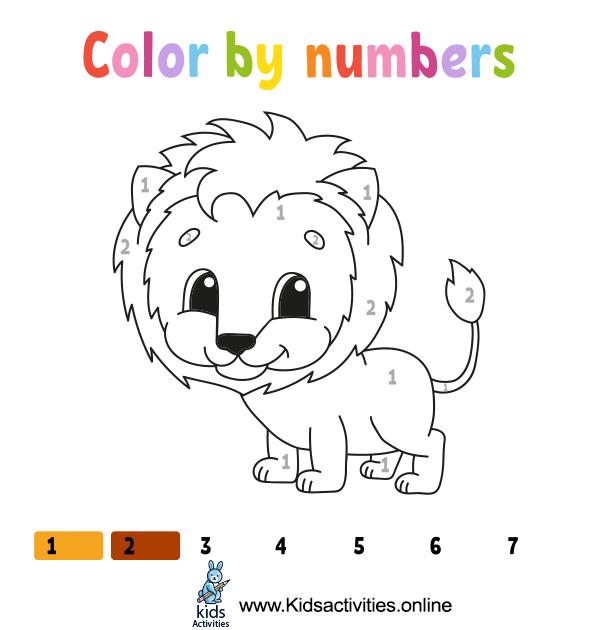 Coloring by numbers printable