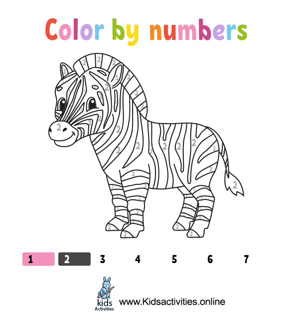 Coloring by numbers books