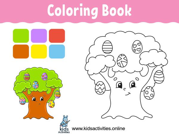 Cute cartoon coloring book