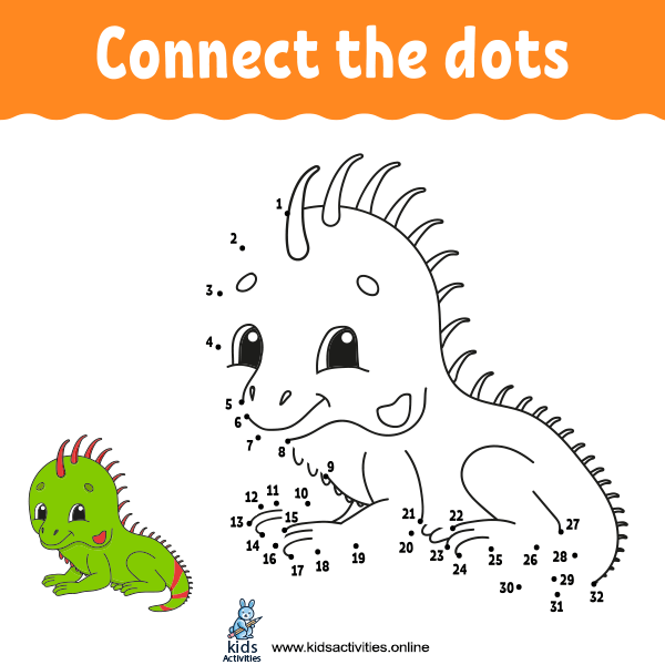 Connect the dots for kindergarten