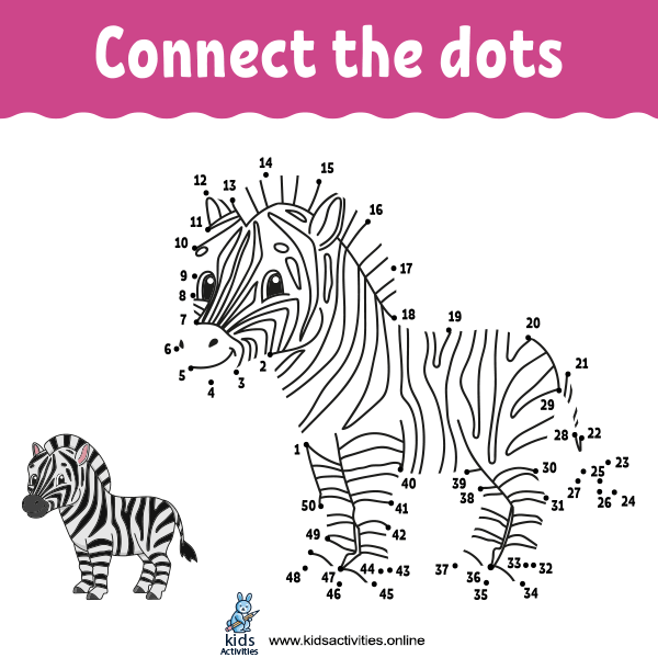 Trace and color connect the dots book