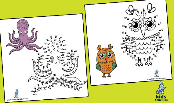 Drawing Animals - Connect The Dots Game Printable