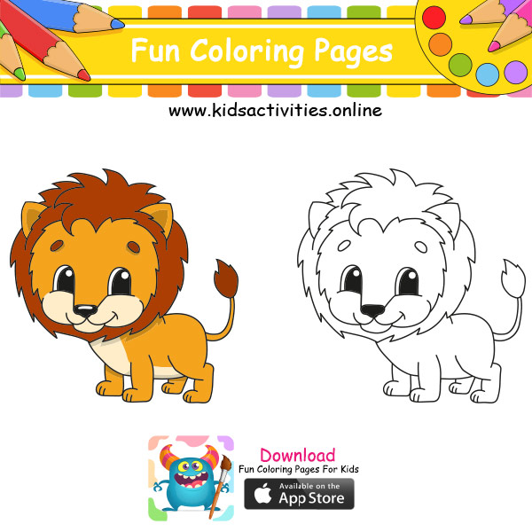 Cute coloring pages easy