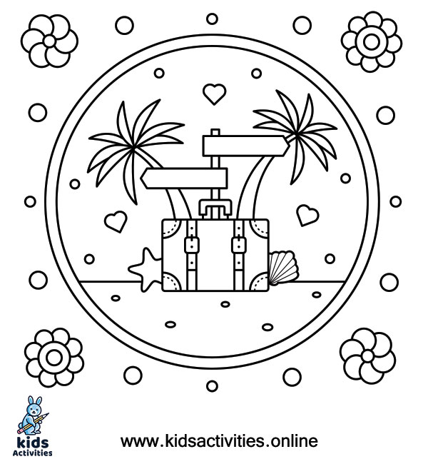 Summer coloring page for free