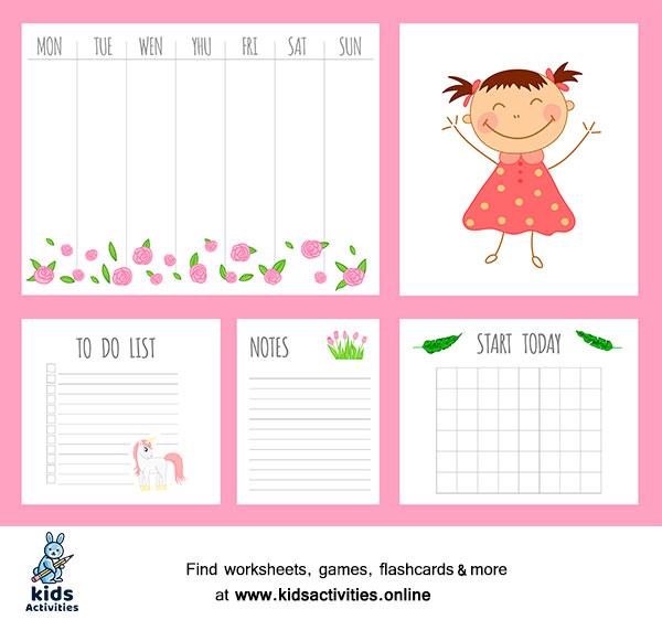 Free Weekly Planner Template Printable