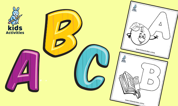 Free printable Alphabet for kids - abc coloring pages