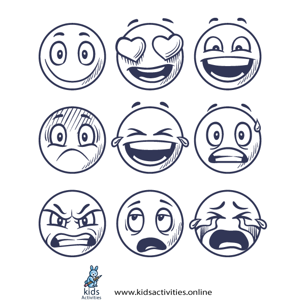 Funny Doodle Faces - Emoji Drawing Easy
