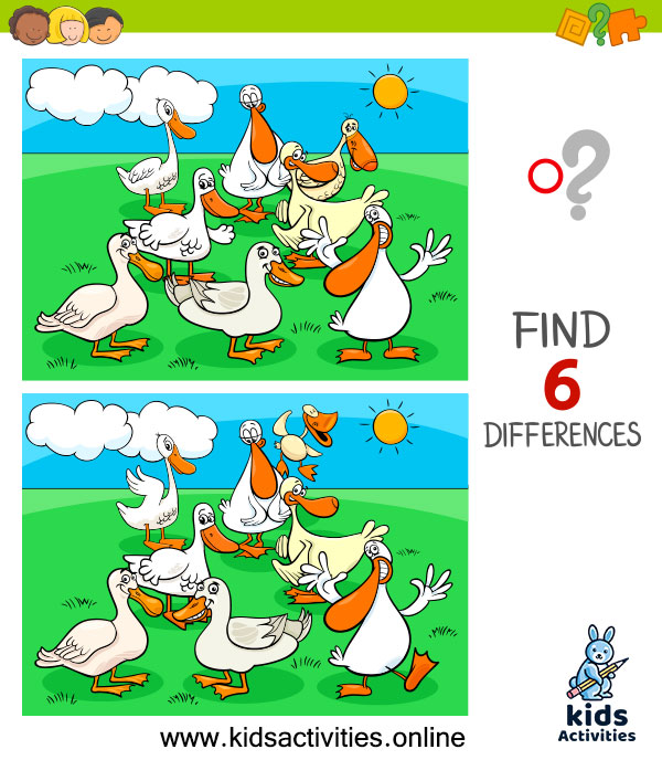 Differences pictures game for kids