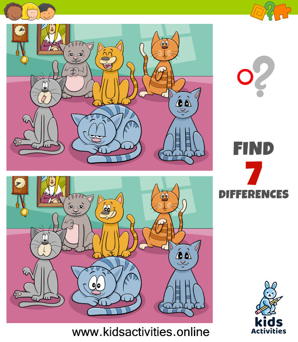 Spot the 7 differences between the two pictures
