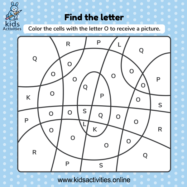 Find the hidden letters in the picture worksheet