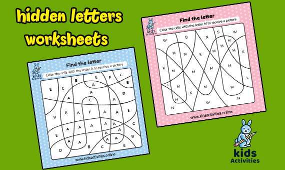 Free Color By Letter Worksheets For Preschool