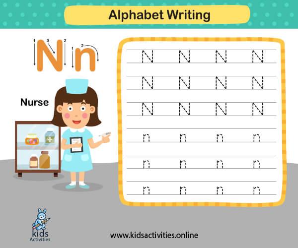 Kindergarten worksheets letters for preschool kids- Free animals alphabet letters worksheets