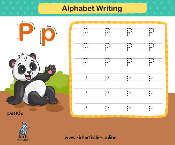 Alphabet tracing worksheets - Free animals alphabet letters worksheets