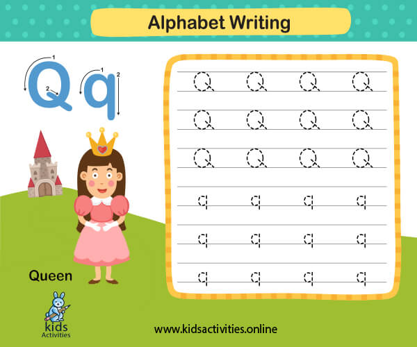 Tracing letters worksheet pdf - Free animals alphabet letters