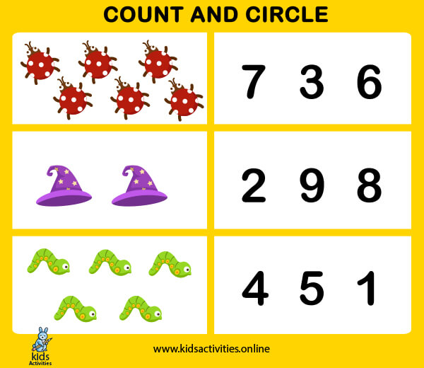 Free Printable Counting Worksheets for Pre-k & Kindergarten