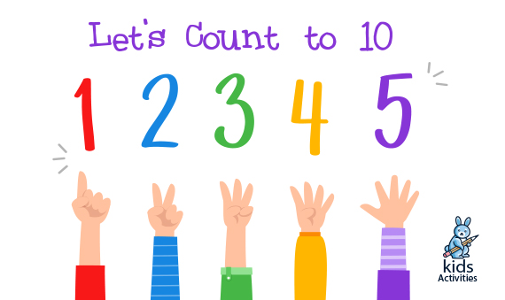 Let's count to 10: Kindergarten Math Worksheets Counting