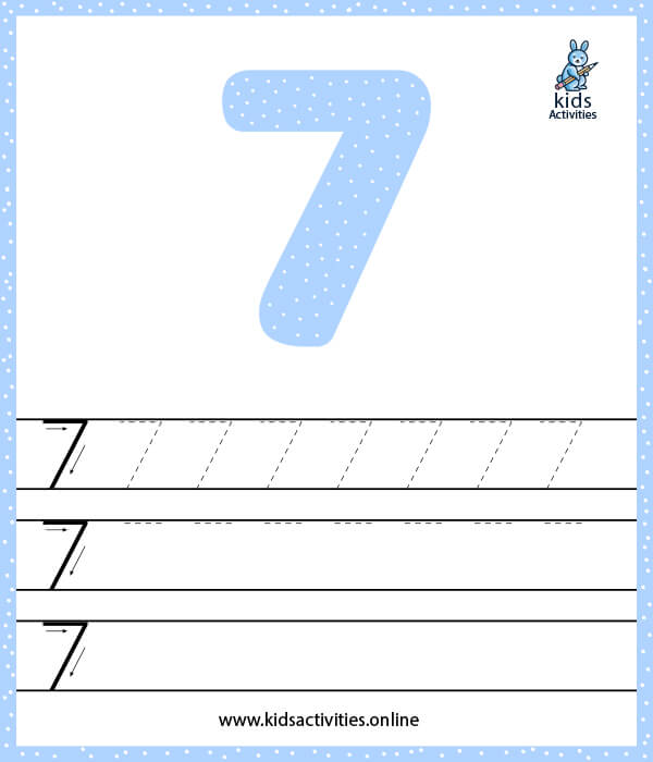Learn numbers for preschoolers - Number 7