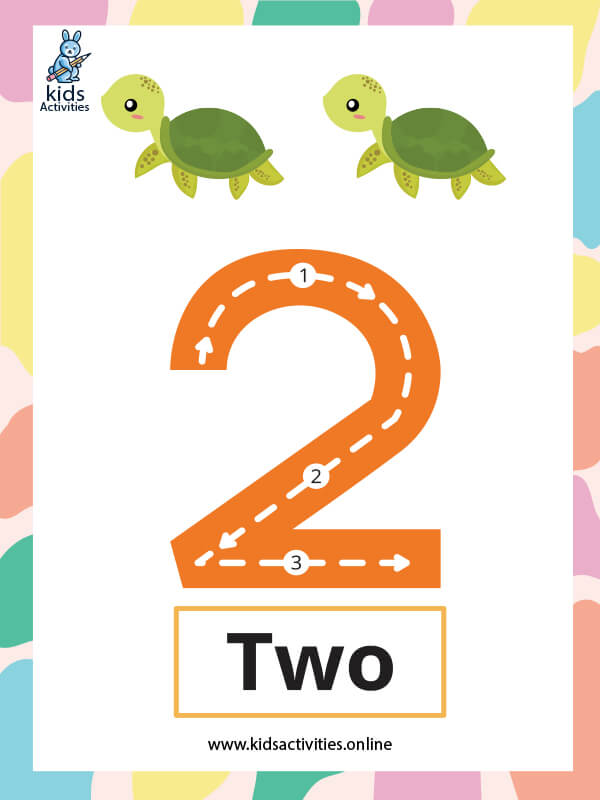 Kindergarten math worksheets pdf - Number 2