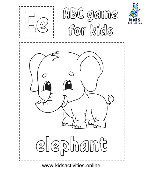 Free animal alphabet coloring pages