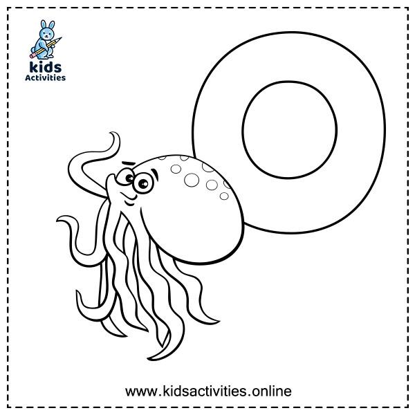 Alphabet coloring page preschool - letter o