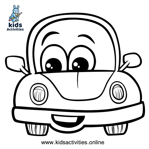 car coloring page for kids