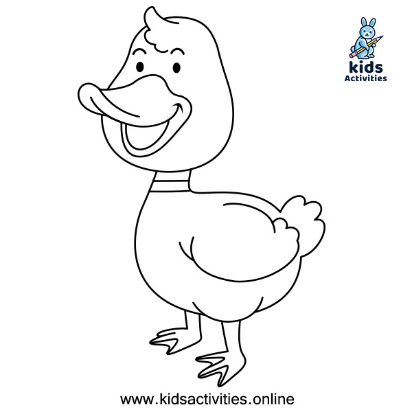 Animal colouring pictures free - duck