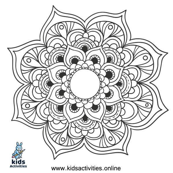 Printable Mandala Coloring Sheet
