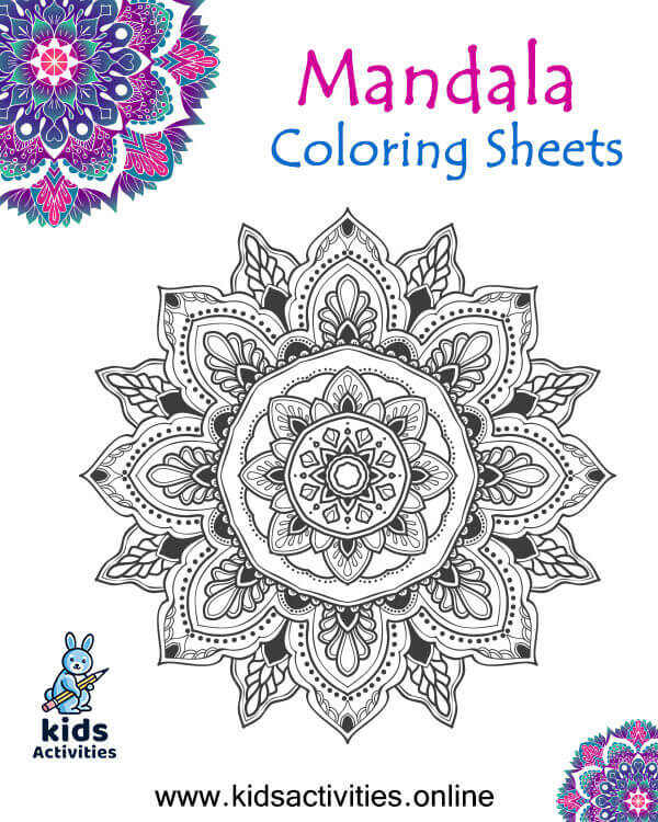 Mandala Coloring Sheets For Adults, Free Printables