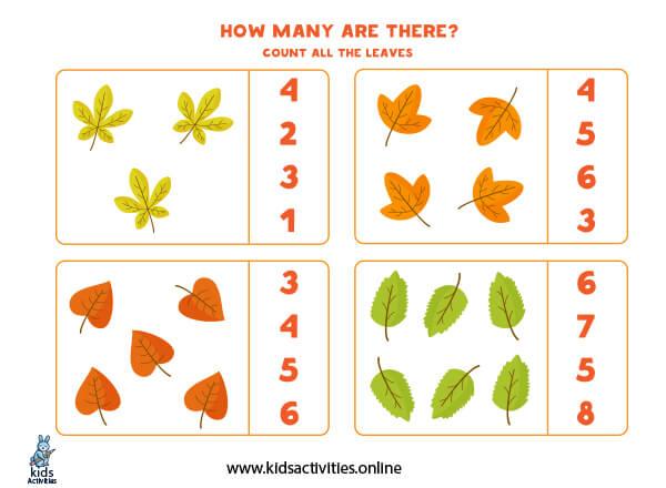 Free Printable preschool Math Worksheets