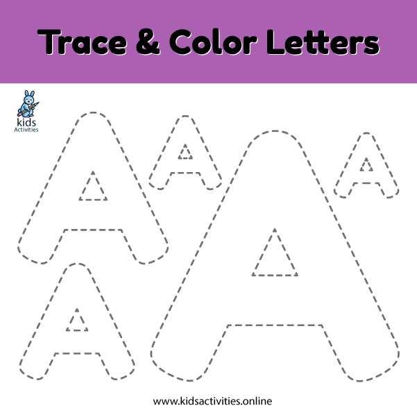 Trace line letter a