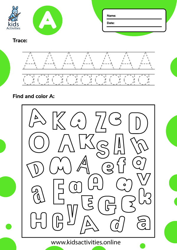 Tracing-letter-a-worksheets